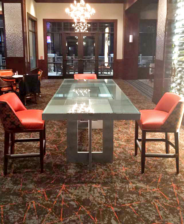 Leaded Glass Table